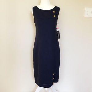 NWT Navy Blue Sheath Dress
